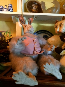 Easter bunny at Deetjen's--now featuring real fur!