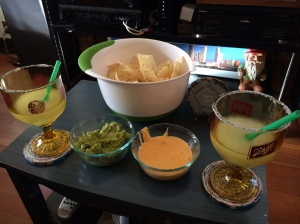 the Tex-Mex trifecta: frozen margaritas, queso and guacamole