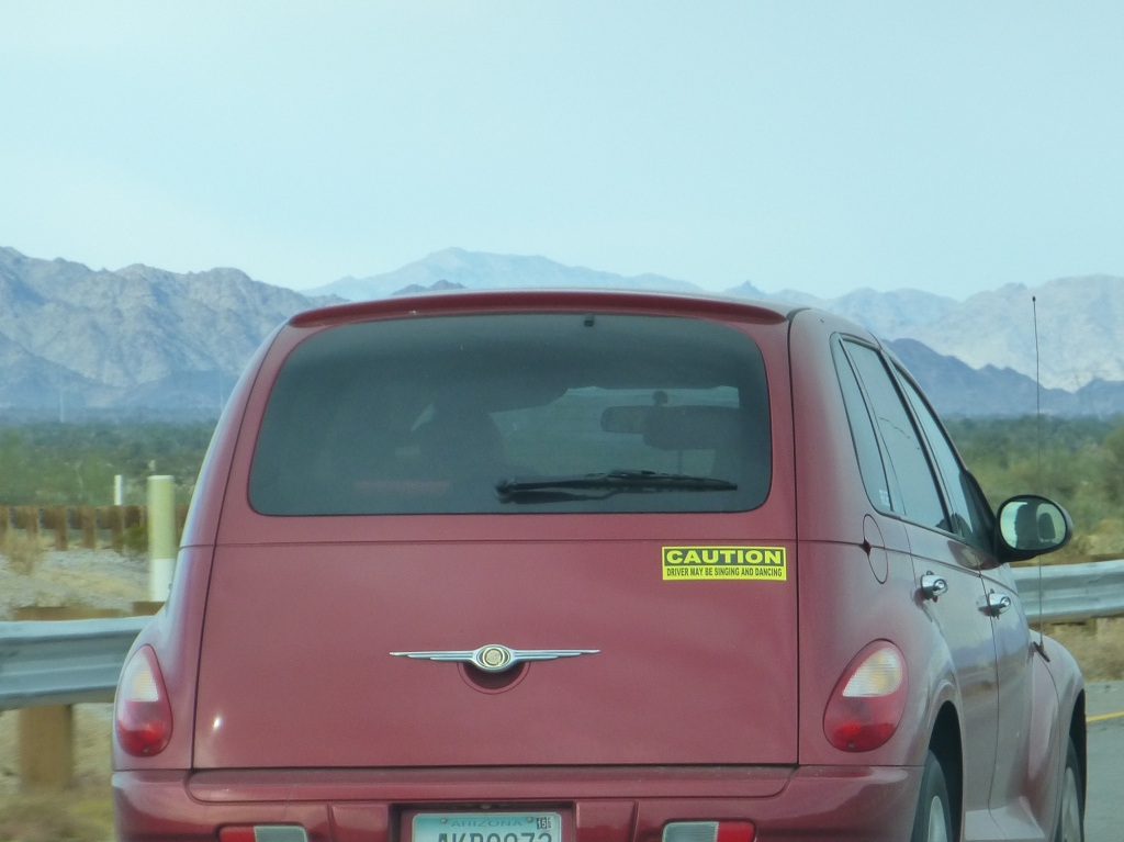 this chick's bumper sticker should have said, ""
