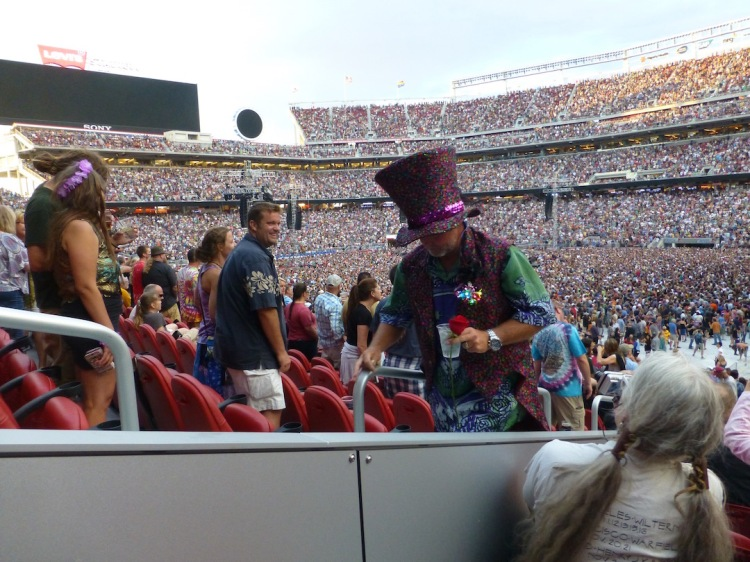 "The costumes people wear at Dead shows could best be described as ""circus hippie."""